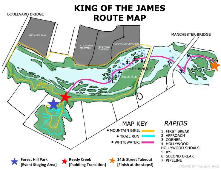 King of the James Map 2018